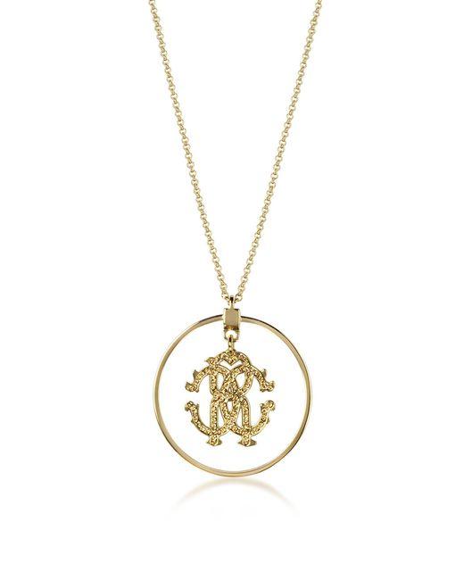 Roberto Cavalli - Metallic Rc Icon Long Necklace W/charm - Lyst