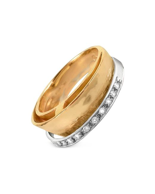 Torrini | Metallic Tama - Diamond Channel 18k Yellow Gold Band Ring | Lyst