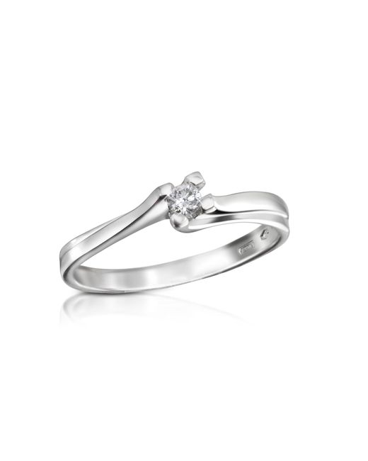 Forzieri - White 0.08 Ctw Diamond Solitaire Ring - Lyst
