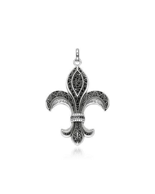 Thomas Sabo - Metallic Rebel Icon Sterling Silver Bourbon Lily Pendant w/ Cubic Zirconia for Men - Lyst