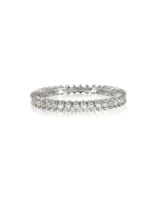 Forzieri - White Gold And Diamonds Eternity Band Ring - Lyst
