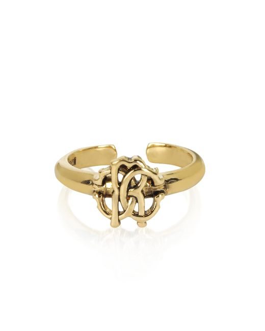 Roberto Cavalli - Metallic Polished Goldtone Rc Icon Ring - Lyst