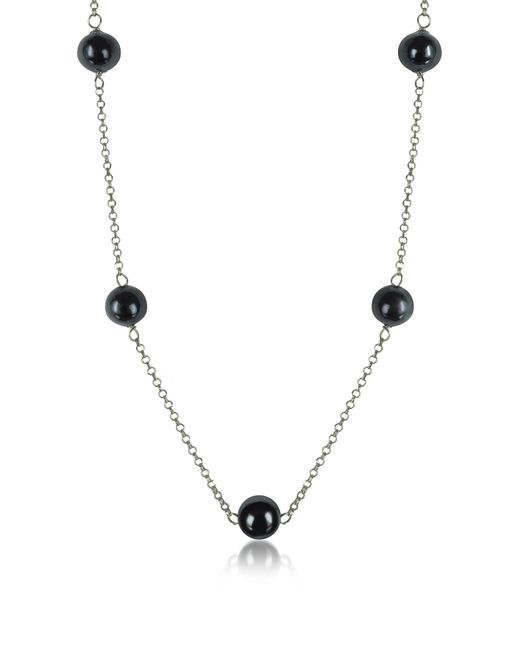 Antica Murrina - Metallic Perleadi Black Murano Glass Beads Necklace - Lyst