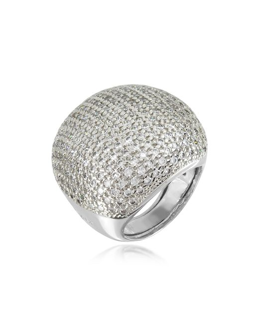Azhar - Metallic Large Cubic Zirconia Sterling Silver Cocktail Ring - Lyst