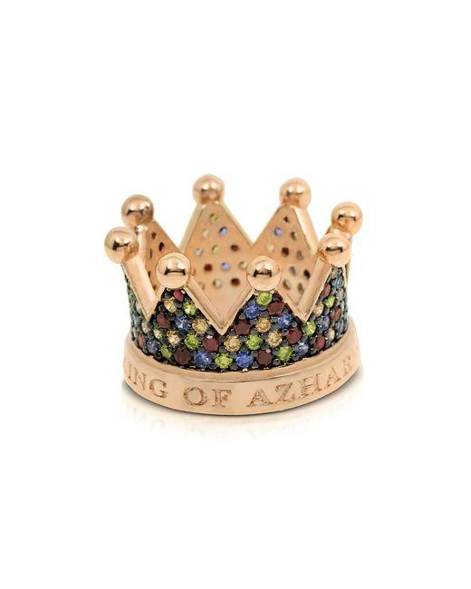 Azhar | Metallic Re Silver And Zircon Crown Ring | Lyst