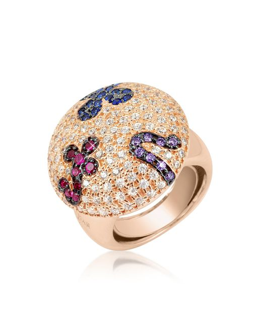 Azhar | Pink Multicolor Fashion Ring | Lyst