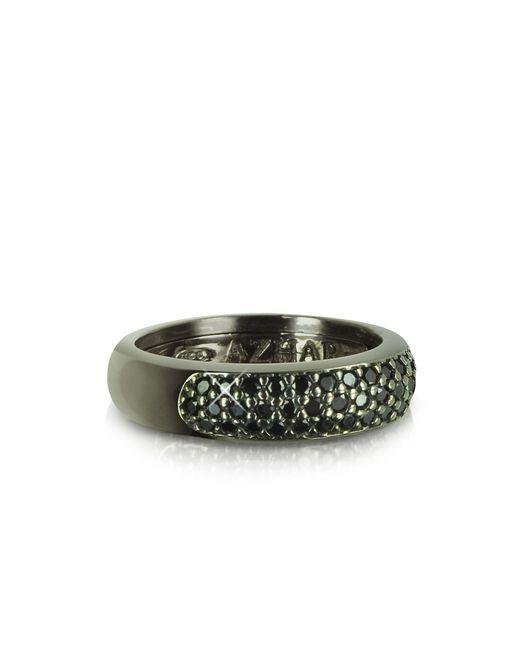 Azhar | Black Cubic Zirconia & Sterling Silver Ring | Lyst