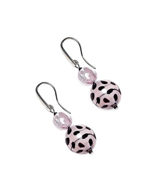 Antica Murrina | White Audrey 2 Color Block Murano Glass Earrings | Lyst