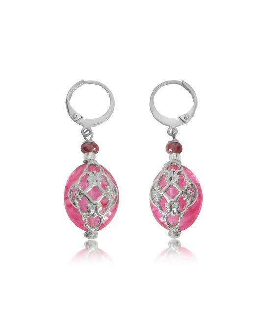 Antica Murrina | Red Florinda Ruby Murano Glass Earrings | Lyst