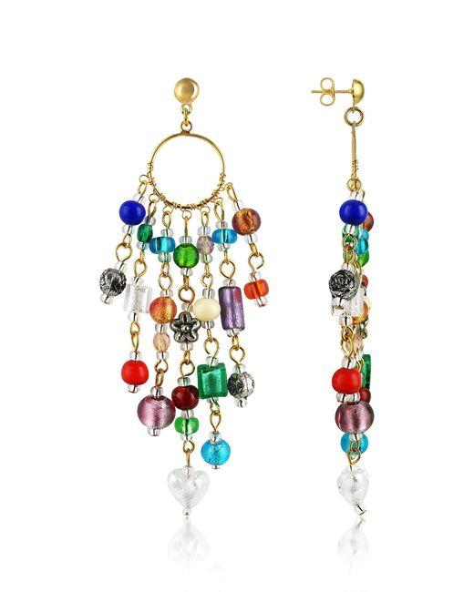 Antica Murrina   Multicolor Brio - Murano Glass Bead Chandelier Earrings   Lyst