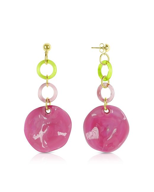 Antica Murrina | Pink Syria - Glass Drop Earrings | Lyst