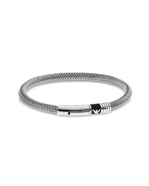 Emporio Armani | Metallic Iconic Stainless-Steel Bracelet for Men | Lyst