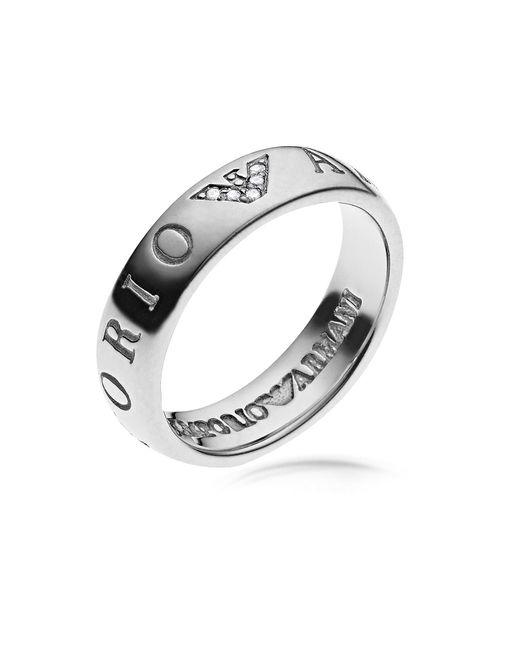 Emporio Armani | Metallic Eagle Signature Women's Ring | Lyst