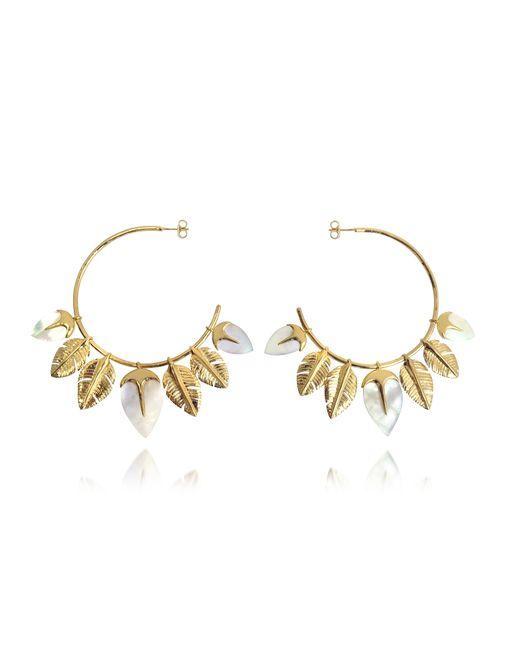 Aurelie Bidermann | Metallic Talitha Hoop Earrings | Lyst