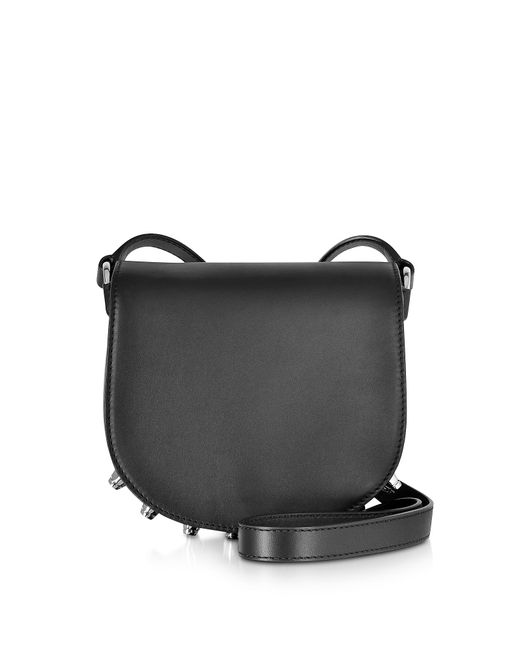 Alexander Wang | Black Lia Mini Leather Saddle Bag | Lyst