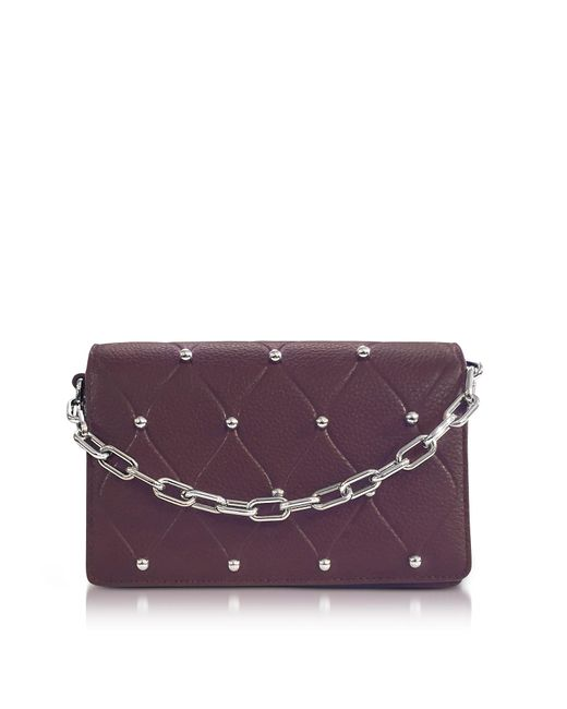 Alexander Wang | Purple Attica Biker Beet Leather Purse W/ball Studs | Lyst