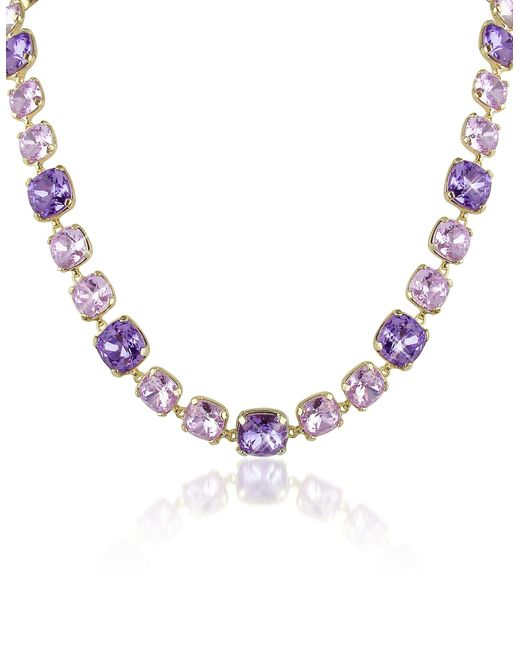 AZ Collection | Metallic Amethyst Crystal Necklace | Lyst
