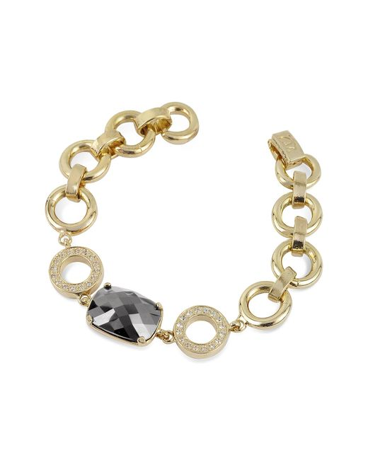 AZ Collection | Metallic Gold Plated Chain Bracelet | Lyst