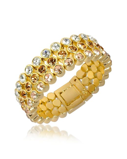 AZ Collection | Metallic Three-tone Crystal Bracelet | Lyst
