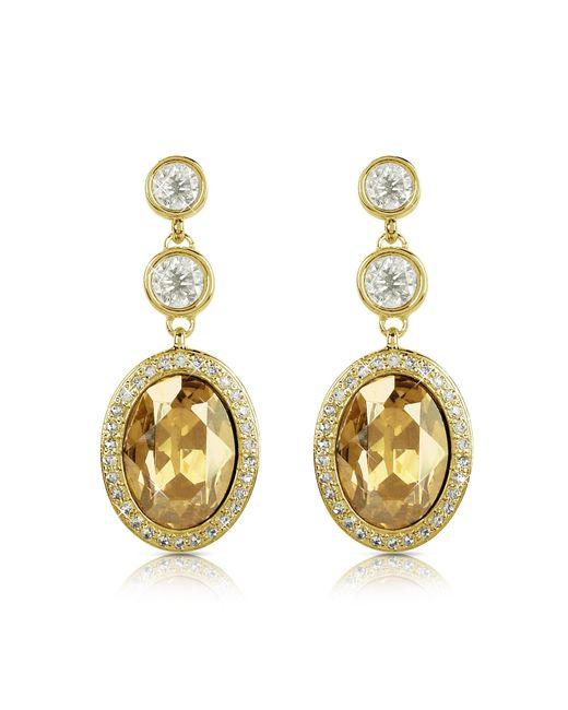 AZ Collection   Metallic Triple Drop Earrings   Lyst