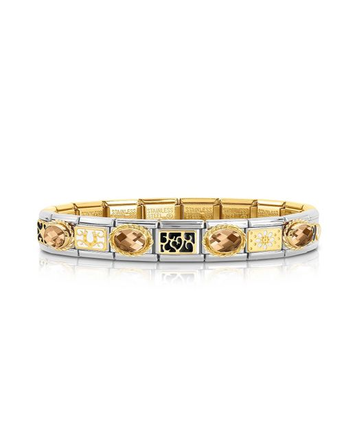 Nomination - Metallic Classic Elegance Gold And Stainless Steel Bracelet - Lyst