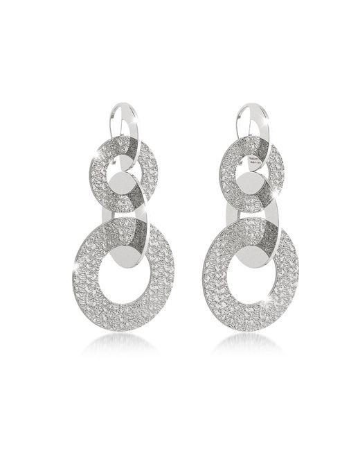Rebecca - Metallic R-zero Rhodium Over Bronze Dangle Earrings - Lyst