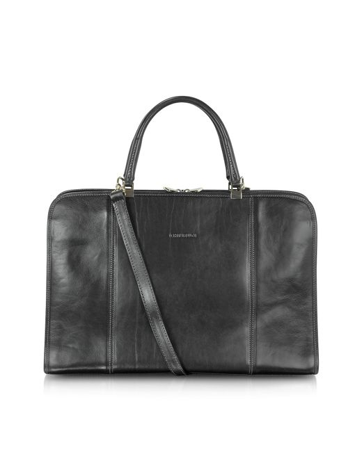 Chiarugi - Black Double Handle Leather Briefcase for Men - Lyst