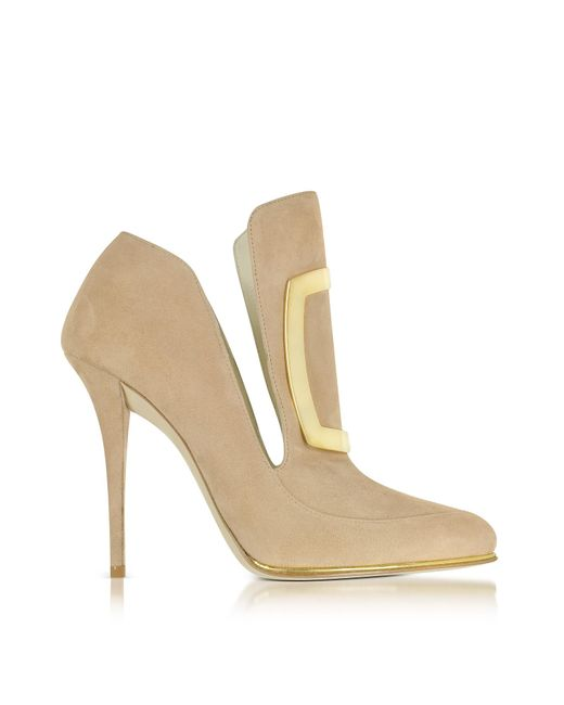 Balmain | Natural Desiree Suede Ankle Boots | Lyst