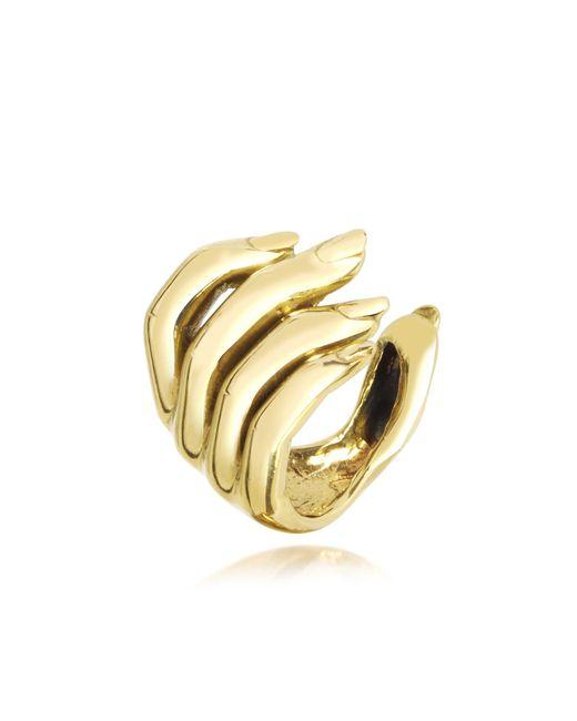 Bernard Delettrez   Metallic Goldtone Open Hand Women's Bronze Ring   Lyst