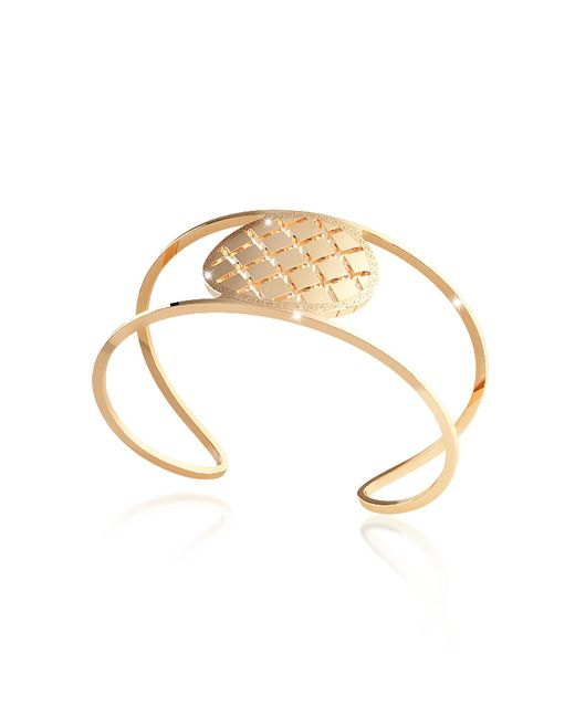 Rebecca - Melrose Yellow Gold Over Bronze Cuff Bracelet - Lyst
