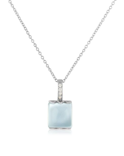 Mia & Beverly - Blue Chalcedony And Diamond 18k Gold Charm Necklace - Lyst