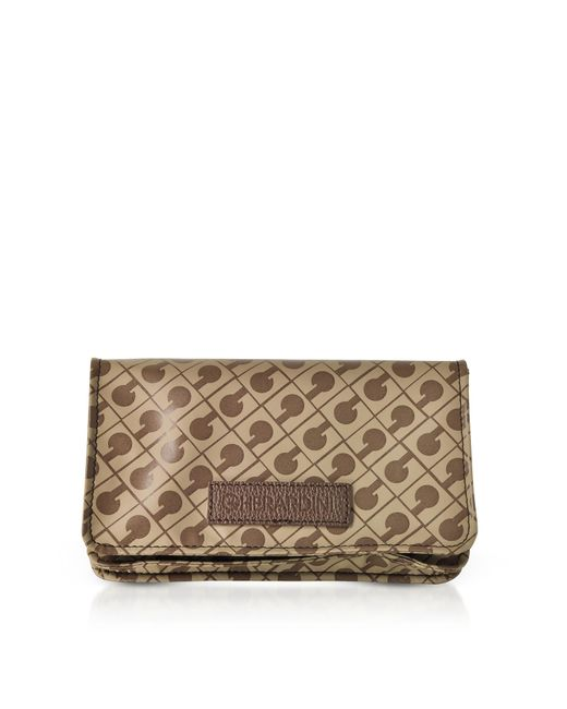 Gherardini - Brown Signature Fabric Softy Small Pouch - Lyst