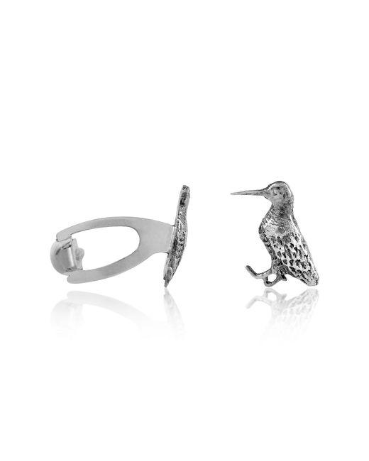 Forzieri - Metallic Sterling Silver Woocock Cufflinks for Men - Lyst
