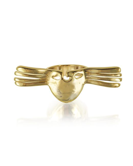Aurelie Bidermann - Metallic Melina Winged Mask Ring - Lyst