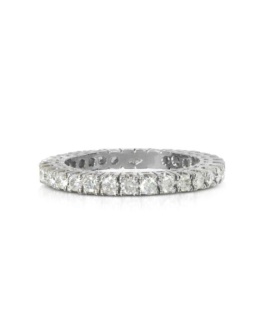 Forzieri - 0.98 Ctw Diamond 18k White Gold Eternity Band - Lyst