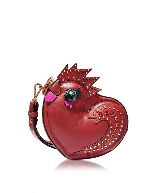 MCM   Red Rooster Heart Coin Case   Lyst