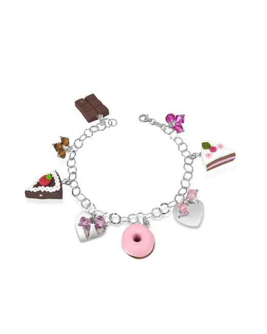 Dolci Gioie | Metallic Sterling Silver Charm Bracelet | Lyst