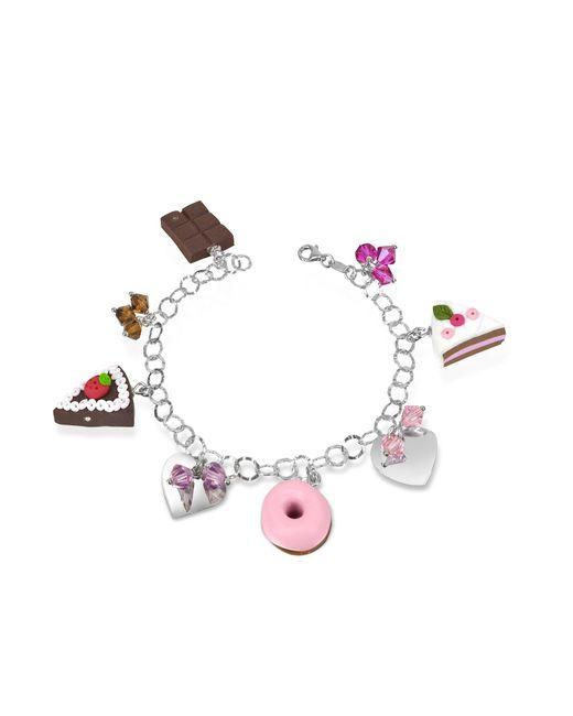 Dolci Gioie | Metallic Sterling Silver Charm Bracelet | Lyst