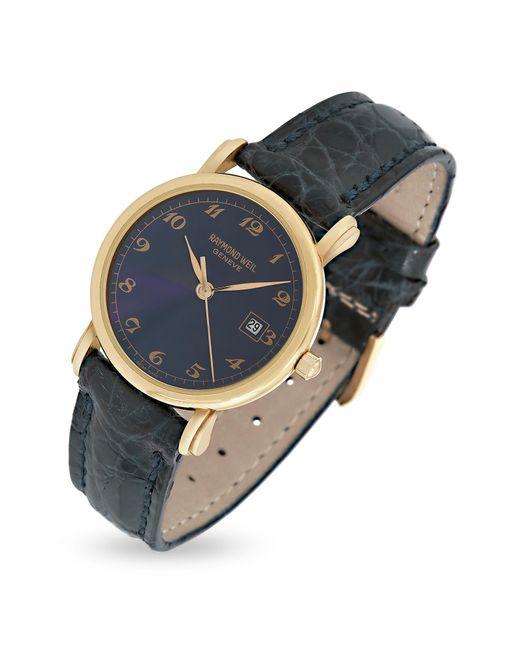 f342b265a Raymond Weil - Blue Dial 18k Gold And Croco Leather Dress Watch - Lyst