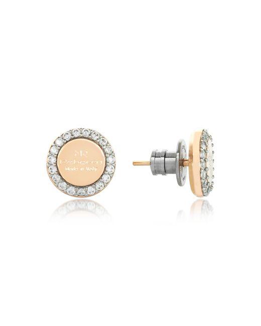 Rebecca - Boulevard Stone Yellow Gold Over Bronze Stud Earrings W/stones - Lyst