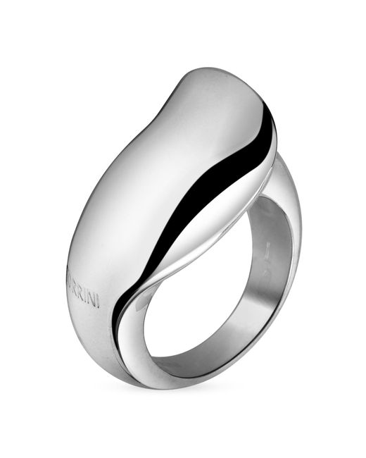 Torrini - Metallic Curved Sterling Silver Ring - Lyst
