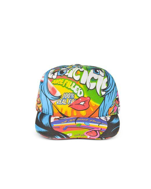 Moschino - Blue Juicicle Comic Girl Cotton Baseball Cap - Lyst