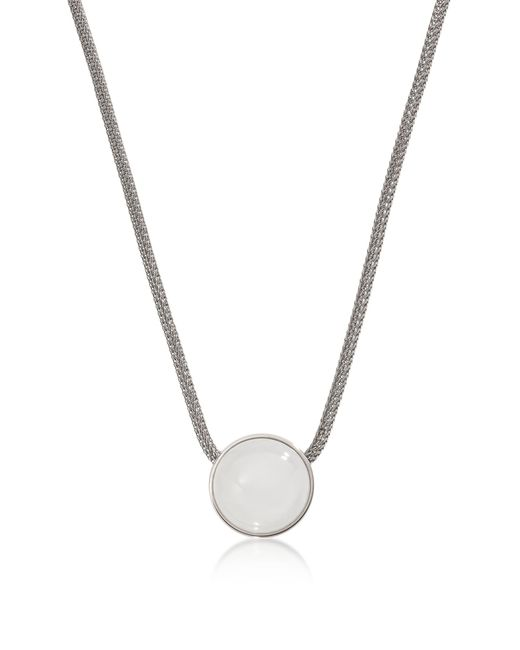 Skagen - Metallic Sea Glass Silver Tone Women's Necklace - Lyst
