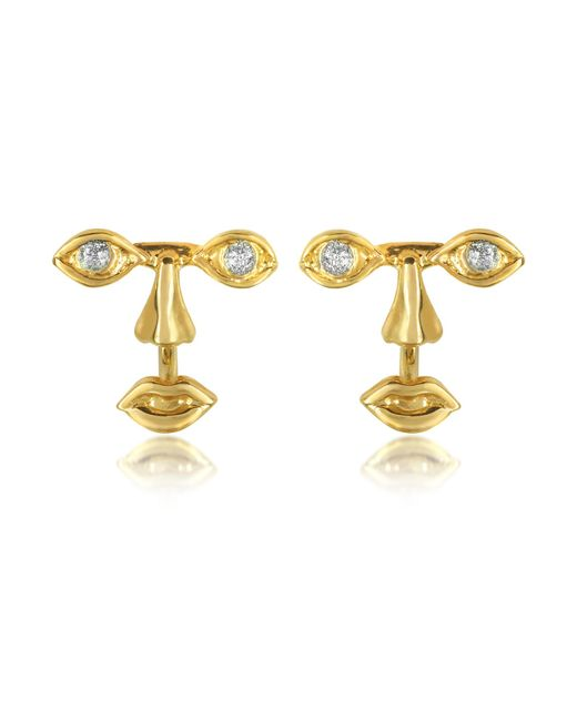 Bernard Delettrez - Metallic Osvaldo Piercing Gold Earrings - Lyst