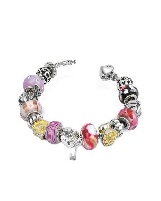 Tedora | Metallic Sterling Silver Romance Bracelet | Lyst