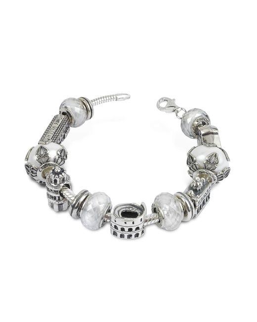 Tedora | Metallic Sterling Silver Italian Journey Bracelet | Lyst