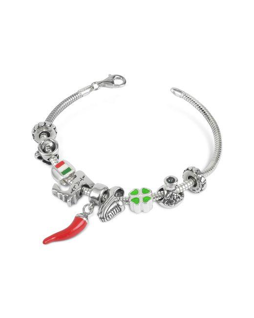 Tedora | Metallic Sterling Silver Italian Journey Bracelet for Men | Lyst