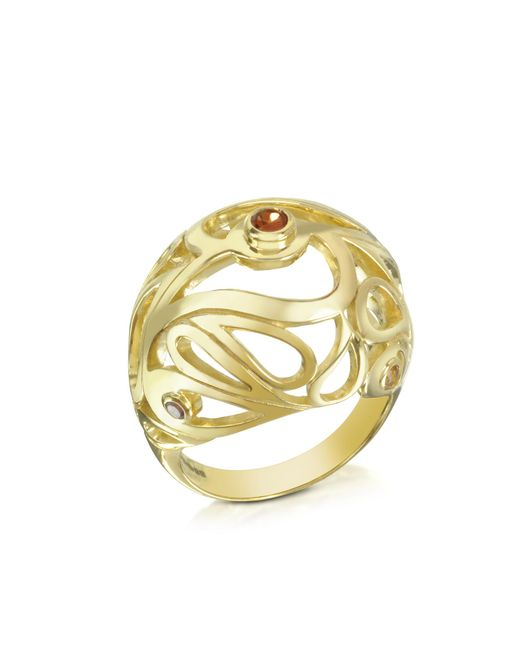 Sho London - Metallic Gold Vermeil Mari Splash Boule Ring - Lyst