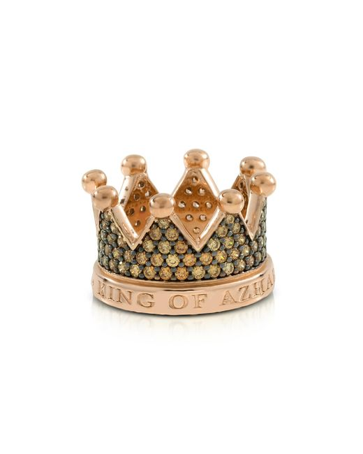 Azhar - Metallic Re Silver And Zircon Crown Ring - Lyst