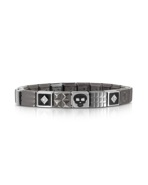 Nomination - Metallic Steel Ikons Black Enamel And Brushed Stainless Steel Bracelet W/cubic Zirconia for Men - Lyst
